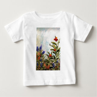 Blue Bonnets and Canna Lilies Baby T-Shirt