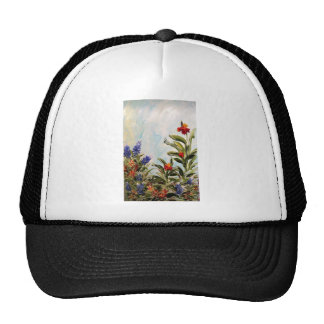 Blue Bonnets and Canna Lilies Hat