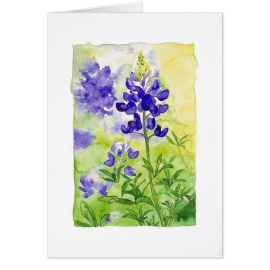 Blue Bonnets Card