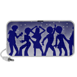 Blue Boogie Disco Dance Doodle Speakers