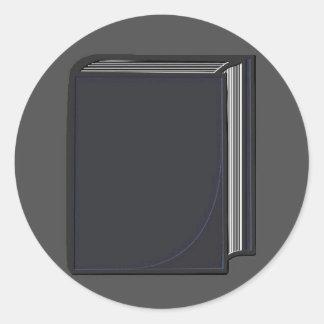 Blue Book - GreyBkg Classic Round Sticker