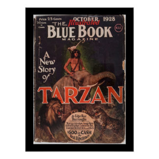 Blue Book - October 1928-7_Pulp Art Poster