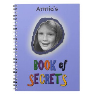 Blue Book of Secrets with Custom Photo and Name