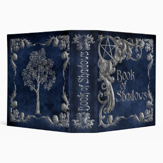 "Blue ""Book Of Shadows"" w/ Silver Highlights #1-L Binder"