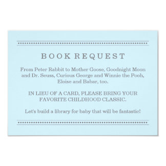 Blue Book Request | Baby Shower Enclosure Card