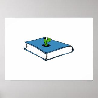 Blue Book Worm Print