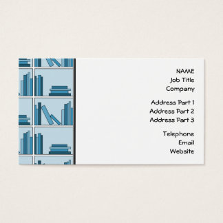 Blue Books on Shelf. Business Card