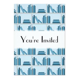 Blue Books on Shelf. Custom Announcement