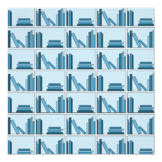 Blue Books on Shelf. Announcements
