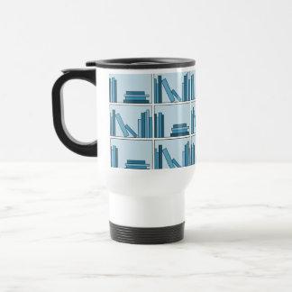 Blue Books on Shelf Coffee Mug