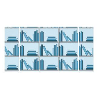 Blue Books on Shelf. Photo Cards