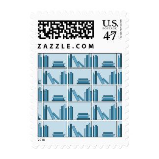 Blue Books on Shelf. Postage