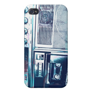 blue boom boxing iPhone 4/4S cover