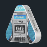 """Blue boombox bluetooth speaker<br><div class=""""desc"""">Hello,  this design represents one blue boombox and silvered,  very old school and swagg,  this funny and very cool design is made for you!</div>"""