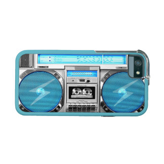 Blue boombox case for iPhone 5/5S