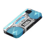 Blue boombox Case-Mate iPhone 4 covers
