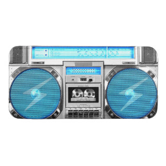 Blue boombox iPhone 5 pouch