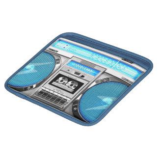Blue boombox iPad sleeve