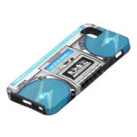 Blue boombox iPhone 5 covers