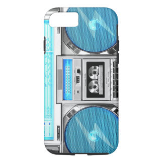 Blue boombox iPhone 8/7 case