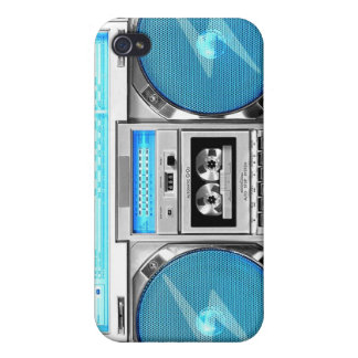 Blue boombox iPhone 4/4S covers