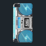 "Blue boombox iPod touch (5th generation) cover<br><div class=""desc"">Hello,  this design represents one blue boombox and silvered,  very old school and swagg,  this funny and very cool design is made for you! Facebook /// myspace /// twitter /// See other gifts available on Zazzle. Browse other gifts from Zazzle.</div>"