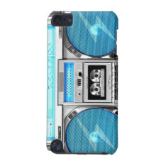 Blue Boombox Ipod Touch (5th Generation) Cover at Zazzle