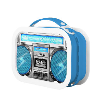 Blue boombox lunch box
