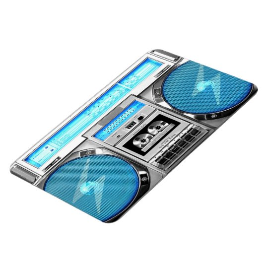 Blue boombox magnet