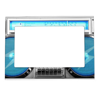 Blue boombox magnetic frame