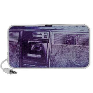blue boombox iPod speakers