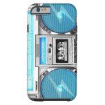 Blue boombox tough iPhone 6 case