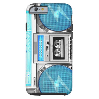 Blue boombox tough iPhone 6 case