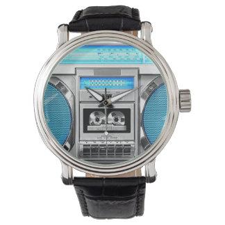 Blue boombox watch
