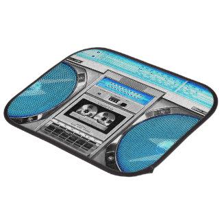 Blue boombox car mat