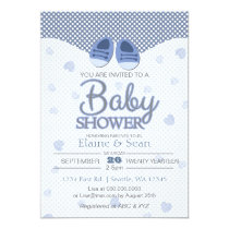 Blue booties Blue Boys baby shower invite