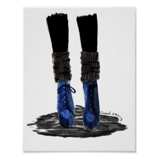 Blue Boots Poster
