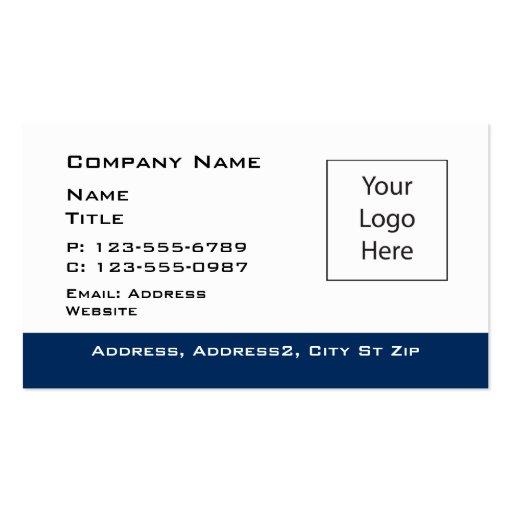 Blue Border editable Business Card