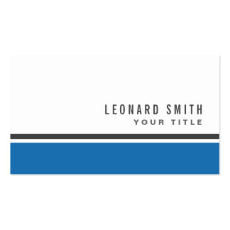 Blue border modern stylish white professional Double-Sided standard business cards (Pack of 100)