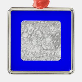 Blue Border Photo Ornament