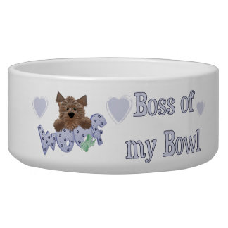 Blue Boss of My Bowl Dog Dish