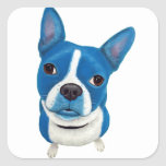 Blue Boston Terrier Sticker