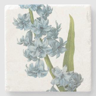 Blue Botanical Print Stone Coaster