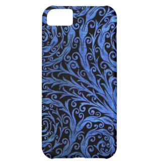 Blue Botanical Swirls Cover For iPhone 5C