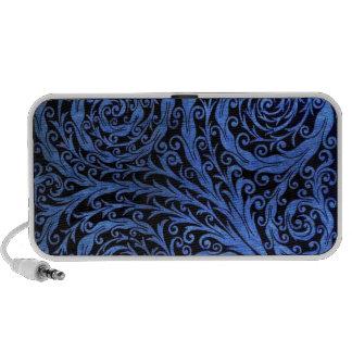 Blue Botanical Swirls Laptop Speakers