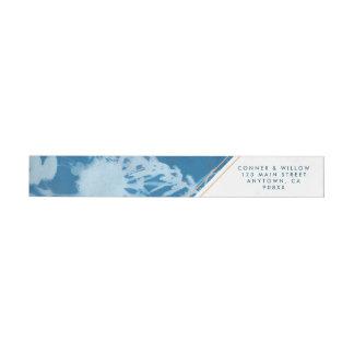 Blue Botanical Wraparound Address Label