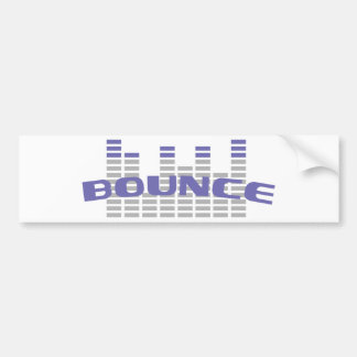 blue bounce icon bumper sticker