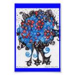 Blue Bouquet Zentangle Photo Art