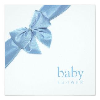 Blue Bow Baby Shower invitation