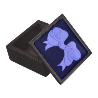 Blue Bow Keepsake Box